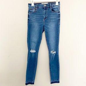 Garage Distressed Skinny Jeans Size 3